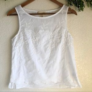 Anthropology Moulinette Soeurs Ethel White Top